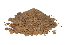 pile dry dirt isolated on white Stock Image
