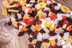 Pile of dry fruits Stock Photos