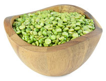 Pile of dry green peas isolated on a white background Royalty Free Stock Images