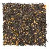 Pile of dry green tea with osmanthus isolated on white background stock images