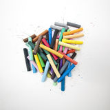 Pile of dry pastel Royalty Free Stock Photography