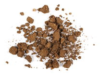 Pile dry soil isolated on white Royalty Free Stock Images