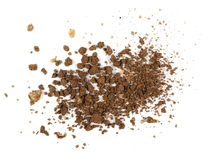 Pile dry soil isolated on white Royalty Free Stock Photo