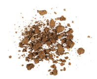 Pile dry soil isolated on white Royalty Free Stock Photography