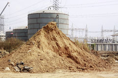 Pile of dry soil and sand Stock Images
