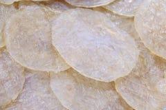 Pile of Dry sweet giant catfish close up in fresh market thailand royalty free stock photo
