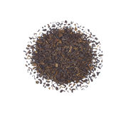 The pile of the dry tea leaves. Royalty Free Stock Photos