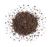 The pile of the dry tea leaves. Royalty Free Stock Image
