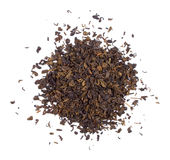 The pile of the dry tea leaves. Stock Image