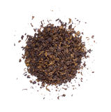 The pile of the dry tea leaves. Stock Photo