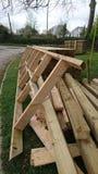 Pile du bois de construction en bois Photographie stock