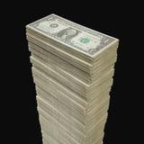 Pile du dollar Photos stock