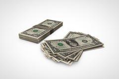 Pile du dollar Photo libre de droits