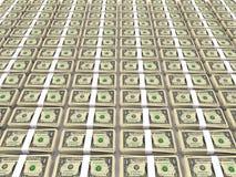Pile du dollar sur l'étage Images stock