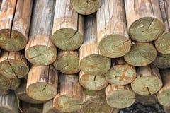 Pile du log en bois photo stock