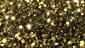 Pile du rendu d'or brillant des cristaux 3D Image libre de droits