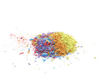 Pile of dusted paint pigment isolated Stock Photo