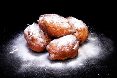 Pile of Dutch donut also known as oliebollen Royalty Free Stock Photo