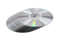Pile of DVD disc. Royalty Free Stock Photo