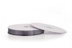 Pile of dvd discs. Pile of blank dvd discs Stock Photo