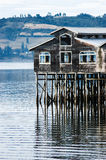 Pile-dwelling of Castro, Chiloe Chile Royalty Free Stock Image