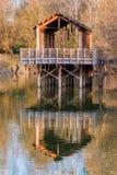Pile-dwelling upon a lake Royalty Free Stock Photography