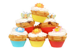 Pile of easter cupcakes Royalty Free Stock Image