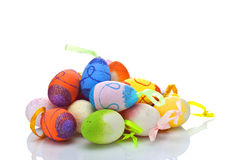 Pile of easter eggs Royalty Free Stock Image