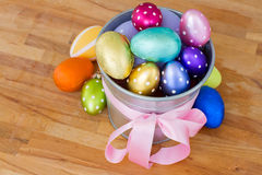 Pile of easter eggs Royalty Free Stock Photos