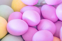 Pile of easter eggs in closeup Royalty Free Stock Photo