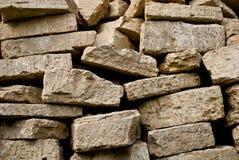 Pile empilée des briques Photo stock