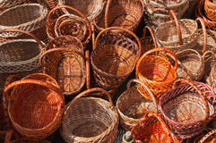 Pile of empty baskets Stock Photography