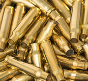 Pile of empty bullet shells Royalty Free Stock Image