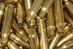 Pile of empty bullet shells Royalty Free Stock Photo