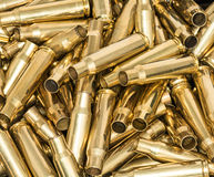 Pile of empty bullet shells Royalty Free Stock Photos