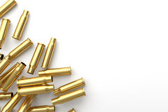 Pile of empty bullet on white background. 3D illustration Royalty Free Stock Image