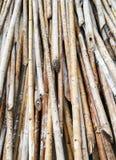 Pile en bambou Photographie stock libre de droits