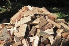 Pile en bois coupée à l'extérieur Images stock