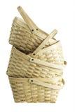 Pile en bois de panier Images stock