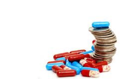 Pile en hausse de quarts et de drogues Photographie stock