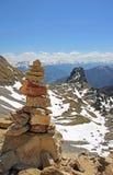 Pile en pierre dans le paysage montagneux, Autriche photographie stock libre de droits