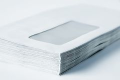 Pile of envelopes royalty free stock images