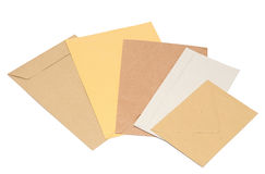 Pile envelopes. On white background stock photo