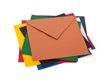 Pile of envelops Stock Images