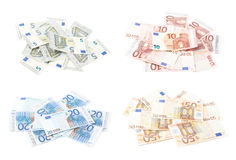 Pile of euro bank notes Royalty Free Stock Photo