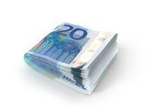 Pile of Euro banknotes Stock Photos