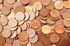 Pile of 5 euro cents Stock Photos