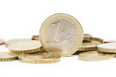 Pile of euro coins Stock Photography