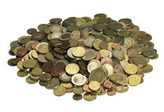 Pile of euro coins Royalty Free Stock Image