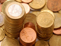 Pile of Euro coins Stock Images